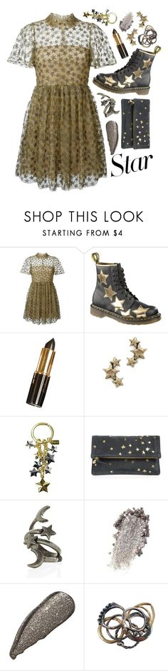 """""""I was the gold that streaked the sky, and every star still yet to fall"""" by anastaziah2014 ❤ liked on Polyvore featuring Valentino, Dr. Martens, Avant Garde Paris, Coach, Clare V., Iosselliani and StarOutfits"""