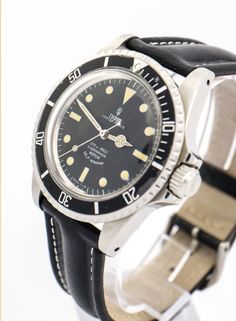 """Very nice Tudor Oyster Prince Submariner diver´s watch 200-600f made in the 60ies. Screwback stainless steel case, bolted crown, rotatable bezel. Engraving on the back: """"Original Oyster Case by Rolex Geneva"""". Black military style dial, automatic caliber 2484. Collector's piece. Find more details at our website, watch-time ID 43. #tudor #rolex #submariner #oyster #prince #oysterprince #military #watchoftheday #vintagewatch #automatic  #diver #diving #vintage #luxury  #watchlover #watchaddict"""