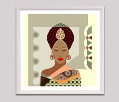 African Woman Black Woman Art Black Woman Painting by iQstudio