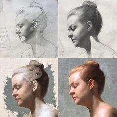 Oil Painting Techniques, Painting Process, Art Techniques, Painting Videos, Human Anatomy Art, Figurative Kunst, Oil Painting Texture, Guache, Oil Portrait