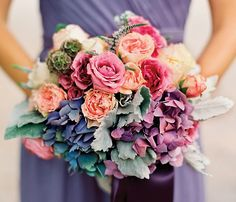 Can you name the rainbow of blooms in this amazing 'maid bouquet? Take your guess in the comments then click to check your answer