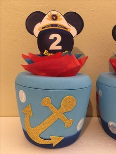 Nautical Mickey, Ice Cooler, Drink Sleeves, Sailor, Decoration, Birthday, Party, Closet, Ideas