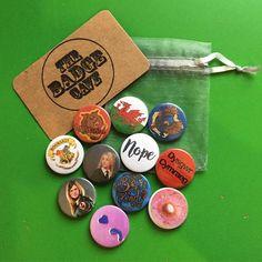 And then as if by magic.... posting some of my favourite badges out today #etsy #handmade #thebadgecave #etsyseller #etsyshop #etsysellersoninstagram #etsysales #etsyhandmade #handmade #badge #badges #button #pin #gryffindor #ravenclaw #luna #lunalovegood #hermione #hogwarts #harrypotter #ddraiggoch #flag #welshflag #dysgwyr #dysgwyrcymraeg #bekind #donut #nope #semicolon #purple http://etsy.me/2zp2h2f