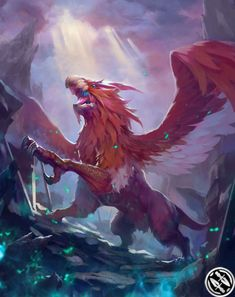 View an image titled 'Griffon Art' in our Mobius Final Fantasy art gallery featuring official character designs, concept art, and promo pictures. Fairytale Creatures, Fantasy Creatures, Mythical Creatures, Final Fantasy Artwork, Anime Art Fantasy, Mobius Final Fantasy, Fantasy Beasts, Monster Design, Creature Concept