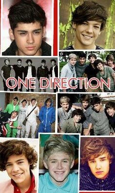 A collage my friend made of one direction pics :)