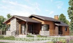 130-007-П Проект одноэтажного дома, экономичный коттедж из поризованных блоков
