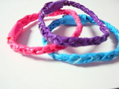 Bracelets!!!!  Crafts for a soon to be 12 year olds girls night birthday party.  This website has tons of duct tape projects