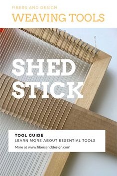 Learn everything you need to know about stick shuttles, a tool used to weave images and create designs, in this weaving tool guide. Weaving Loom Diy, Weaving Tools, Weaving Art, Tablet Weaving, Weaving Textiles, Weaving Patterns, Woven Image, Tapestry Loom, Yarn Organization
