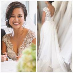 Beautiful Wendy #realwedding #realbride #hautecouture #designergown #couturegown #bridetobe #frenchlace #maryioannidiscouture #beautifulbride #designergown
