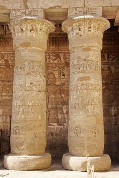 Un des temples les mieux préservé d'ÉgypteMadinat Habu, Rive Occidentale du Nil, Luxor.