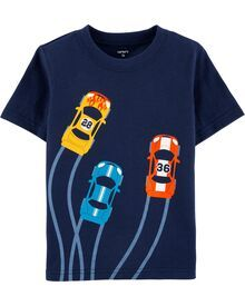 Carters Baby Boys, Toddler Boys, Boys Wear, Tee Design, Boys T Shirts, Kind Mode, Boy Fashion, Printed Shirts, Race Cars