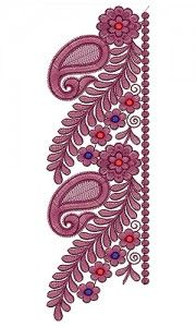 1 new message Embroidery Neck Designs, Folk Embroidery, Diy Plant Stand, Lace Border, Border Design, Pattern Drawing, Paisley Pattern, Designs To Draw, Krishna