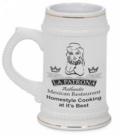 Ceramic Gold Trim Stein Distinguish your favorite beverage from everyone else's with a customized stein! Whether it's a special stein for yourself or a set for your Thursday night get together, these steins will be the hit of the party.