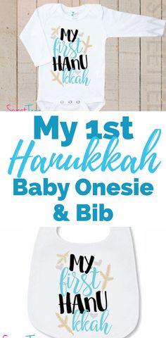 Baby's 1st Hanukkah Outfit   This adorable baby onesie and bib are perfect for a little one celebrating Hanukkah! Perfect for baby girl or baby boy. Simple and easy! #affiliate Baby Baby Baby Oh, Baby Onesie, Hanukkah Food, Kids Corner, Cute Baby Clothes, Parenting Hacks, Cute Babies, Kid Hairstyles, Rosh Hashanah