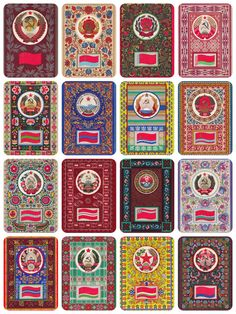 Emblems and Flags of Soviet Republics USSR  by RussianSoulVintage