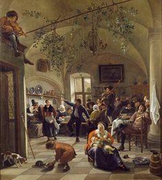 Jan Steen - Interieur met feestend gezelschap