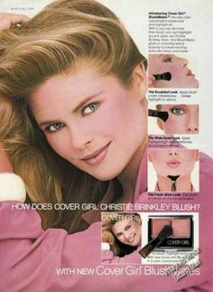 every picture of Christy Brinkley that i could find on my door. Makeup Vintage, Retro Makeup, Love Makeup, Vintage Beauty, Retro Advertising, Vintage Advertisements, Vintage Ads, 80s Ads, Retro Ads