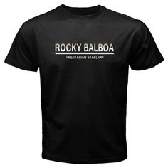 "Cotton Tee Shirts For Men Rocky Balboa ""The Italian Stallion"" boxer Legend Men'S T Shirt #Affiliate"