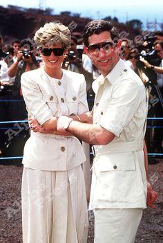 APRIL 1991 PRINCESS DIANA AND PRINCE CHARLES IN BRAZIL