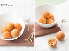 Receta de croquetas caseras de chorizo    http://www.directoalpaladar.com/recetas-de-aperitivos/receta-de-croquetas-caseras-de-chorizo