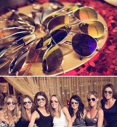 Hangover theme Bachelorette party. Love the sunglasses