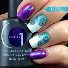 Chickettes.com Peacock Nails