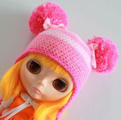Bubblegum Baby Hat - A Hat For Neo Blythe and Pullip - Blythe Clothes - Dolls Hat  - Blythe Helmet - Eriko's Emporium by ErikosEmporium on Etsy - £9.00