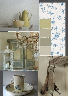 The soft, romantic tones of the Scandinavian colour palette and the faded patina that features in the prettiest of rustic rooms is always ...