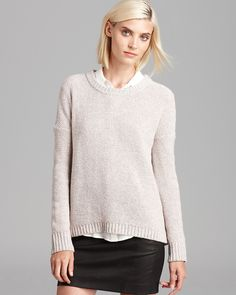 love the cream color.  Theory Sweater - Clancia Girella | Bloomingdale's