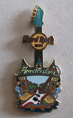 Hard Rock Amsterdam City Tee Guitar Pin 2014 | eBay