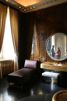 The Kings' Bathroom - Quai d'Orsay, Art Deco Bathrooms Masculine Bathroom, Art Deco Bathroom, Art Deco Era, Bathroom Interior Design, Art Deco Fashion, Interior Inspiration, Decorative Items, Bathrooms, Original Art