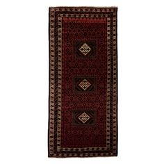 "Kuchis Collection Oriental Rug, 3'6"" x 8'"