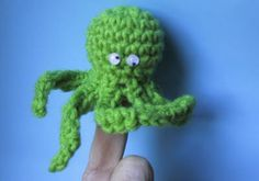 Crochet Pattern Octopus Finger Puppet