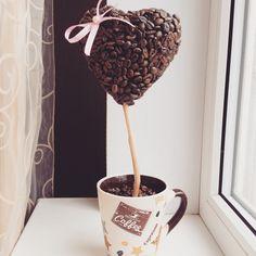Топиарий «Кофейное Сердце» от 800 рублей!