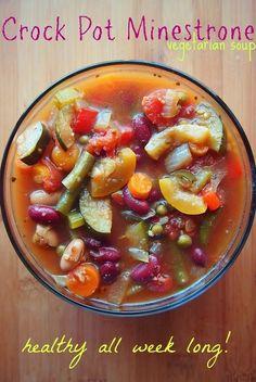 58 Calorie Crock Pot Minestrone Soup!