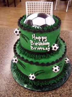 Soccer Cake... WANT!!!!!!!!!! Weird Part: My Daughter's name is ...