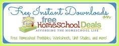 Free Homeschool Instant Downloads- good stuff for Bible class if I ever muster up the crazy to teach kids