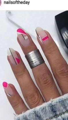 Fun Nails, Pretty Nails, Manicure, Mauve Nails, Geometric Nail, Nail Candy, Fabulous Nails, Stylish Nails, Nails Inspiration