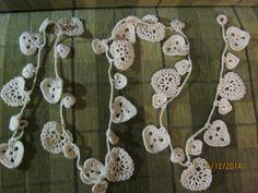łańcuch na choinkę - szydełko