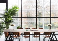 Renaissance Office: Fosbury & Sons Reinvents the Workspace in Antwerp Cafe Interior, Office Interior Design, Home Office Decor, Industrial Home Offices, Industrial House, Corporate Interiors, Office Interiors, Renaissance, Traditional Office