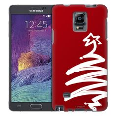 Samsung Galaxy Note 4 White Painted Tree on Red Trans Case