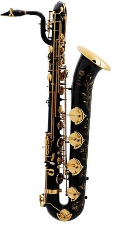 For Anna-Selmer Paris Professional Model Bari Saxophone - Saxophones - Band Instruments : Conn-Selmer, Inc. Holy crap this sax is beautiful. And I believe it has a low G key! Saxophone Instrument, Baritone Sax, Bass Clarinet, Trombone, Band Nerd, French Horn, Sound Of Music, Jazz Music, Music Stuff
