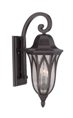 Acclaim Lighting 39812 Milano 3 Light Outdoor Wall Sconce With Clear Seeded Glas Oil Rubbed Bronze