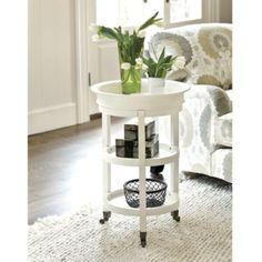 "$100 26 1/2""H X 18"" Diameter Ethan Tray Table - Round Shelf Tray Table - Removable Top Tray Table - Hardwood Tray Table"