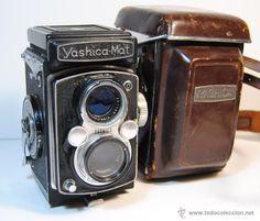 Cámara fotográfica antigua YASHICA MAT - 6x6 TLR (Japón 1957) / Cámaras en todocoleccion