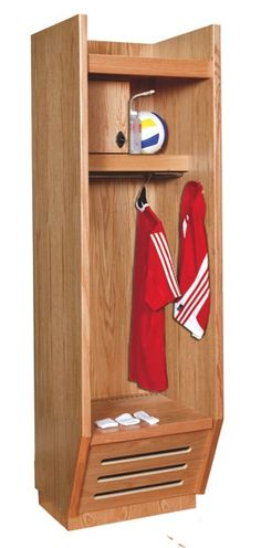 Open Access Sports Locker You can find our open access athletic wood lockers in locker rooms of the top athletic programs or your local high school. #sportslockers Fieldhouse Locker