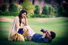 """Once upon a time, there was a boy who loved a girl, and her laughter was a question he wanted to spend his whole life answering. Couple Photoshoot Poses, Pre Wedding Photoshoot, Wedding Shoot, Wedding Couple Pictures, Romantic Wedding Photos, Indian Wedding Couple Photography, Couple Photography Poses, Pre Wedding Poses, Laughter"