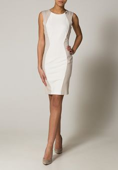 Guess IDALIS - Robe fourreau - white - ZALANDO.FR