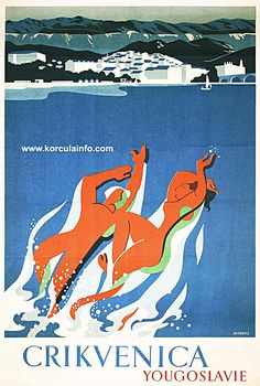 1950 Yugoslavia Travel poster