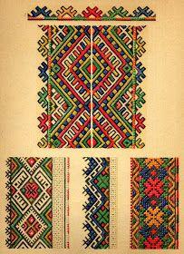 Hardanger Embroidery Patterns ukrainian folk embroidery: Ukrainian Folk Embroidery, I. Krasyts'ka, plate embroidery from women's chemises, plate 12 Hungarian Embroidery, Hardanger Embroidery, Types Of Embroidery, Folk Embroidery, Learn Embroidery, Cross Stitch Embroidery, Embroidery Patterns, Indian Embroidery, Embroidery Techniques